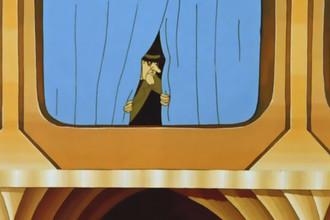 Злой доктор Верховцев в сцене из мультфильма «Тайна третьей планеты»