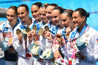 Сборная России по синхронному плаванию выиграла очередное золото