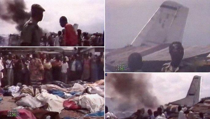 Репортаж телеканала НТВ о крушении самолета Ан-32Б в Киншасе, январь 1996 года