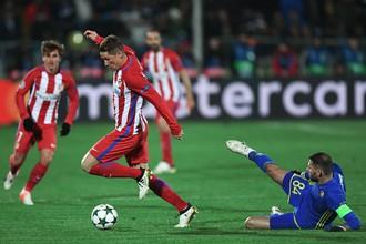 В матче 3-го тура группового этапа Лиги чемпионов «Ростов» уступил «Атлетико»
