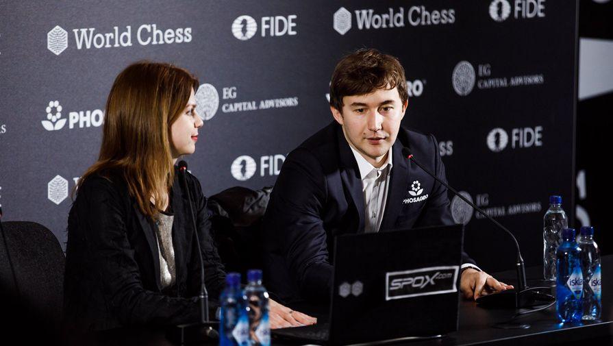 Сергей Карякин на пресс-конференции