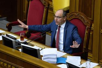 Спикер Верховной рады Украины Андрей Парубий во время заседания, январь 2019 года
