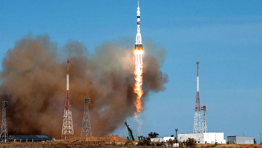 Запуск РН «Союз-2.1а» с пилотируемым кораблем «Союз МС-17» с космодрома Байконур, 14 октября 2020 года