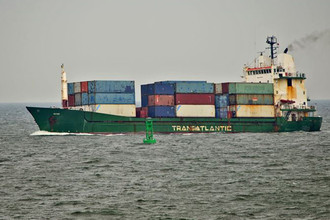 Судно Corsica, участвовавшее в перевозке контейнеров сирийским боевикам