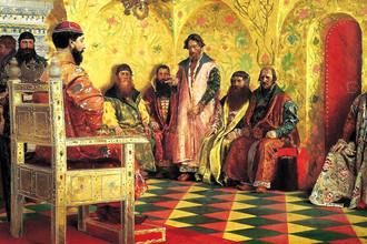 Андрей Рябушкин. Сидение царя Михаила Федоровича с боярами в его государевой комнате. 1893