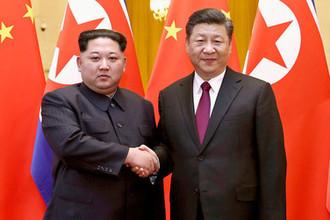 Встреча лидера КНДР Ким Чен Ына и президента Китая Си Цзиньпиня в Пекине, 28 марта 2018 года