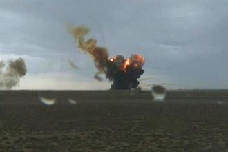 Запуск трех навигационных спутников «Глонасс-М» с помощью ракеты «Протон-М» с космодрома Байконур завершился аварией