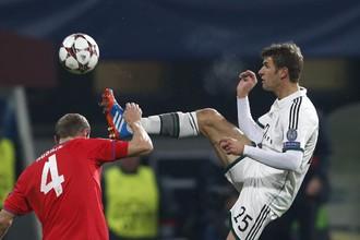«Бавария» не была выше на голову чешской «Виктории», но все-таки оформила путевку в плей-офф Лиги чемпионов