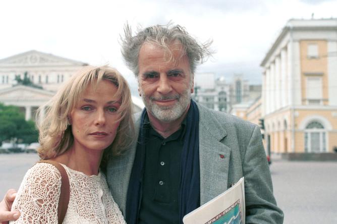 Актриса Наталья Андрейченко и актер Максимиллиан Шелл в Москве. 1995 год