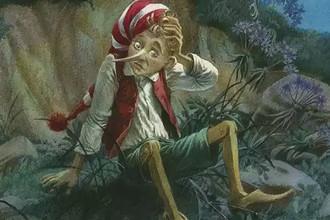 Иллюстрация из книги «Золотой ключик, или Приключения Буратино»