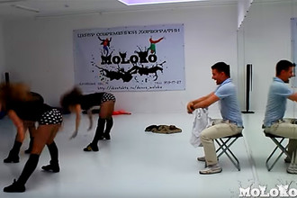 Руководитель центра современной хореографии MoLoKo Игорь Кравченко отмечает день рождения студии, 2013 год