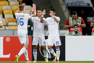 Киевское «Динамо» играет в Лиге Европы с «Партизаном»