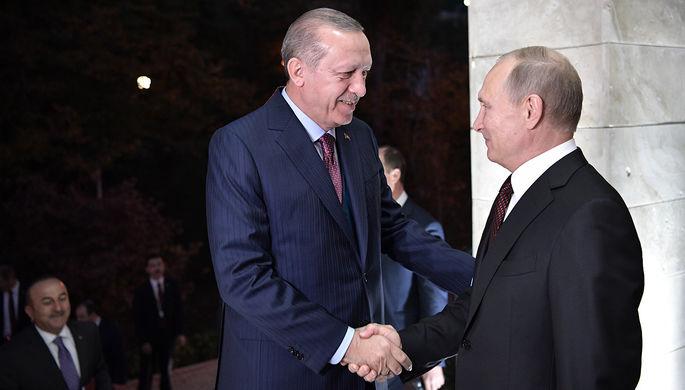 Эрдоган и Путин обсудили подготовку к саммиту по Сирии