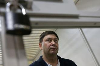 Руководитель портала РИА «Новости» Украина Кирилл Вышинский во время рассмотрения апелляции на арест в Херсонском зале суда, 29 мая 2018 года