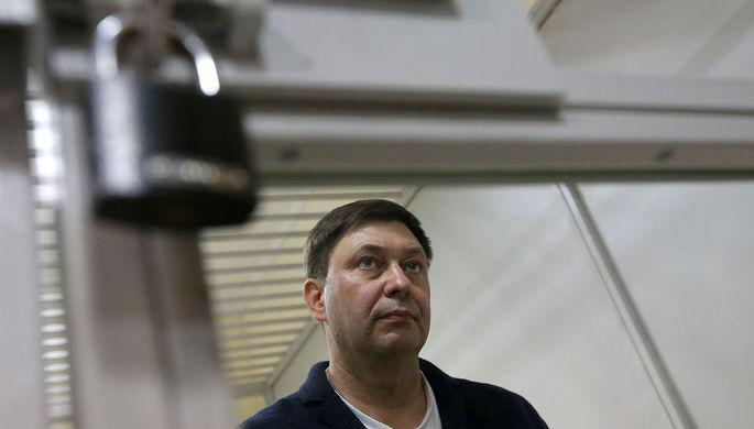 Руководитель портала РИА «Новости» Украина Кирилл Вышинский во время рассмотрения...