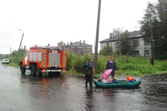 В Карелии из-за проливных дождей введен режим ЧС