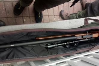 Винтовка, изъятая у задержанного в Киеве мужчины