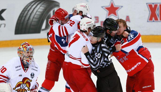 Первый поединок ЦСКА с «Йокеритом» получился очень жарким