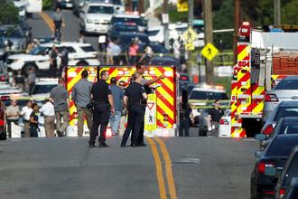 Ситуация на месте стрельбы в Александрии, штат Вирджиния, США