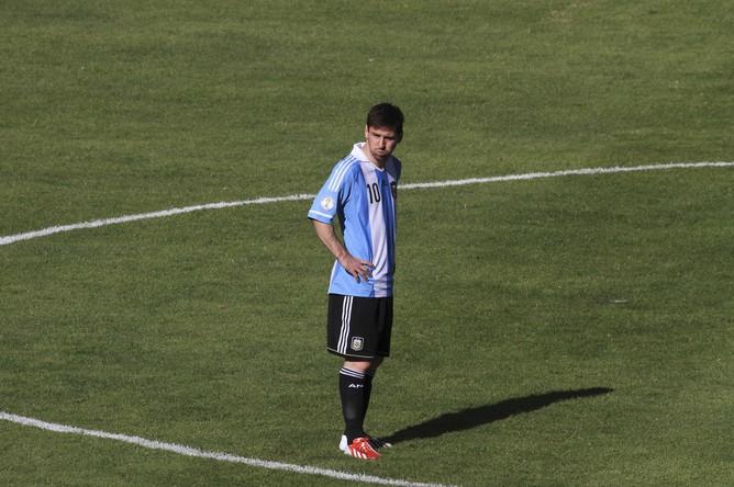 Лионель Месси в матче с Боливией был не очень заметен