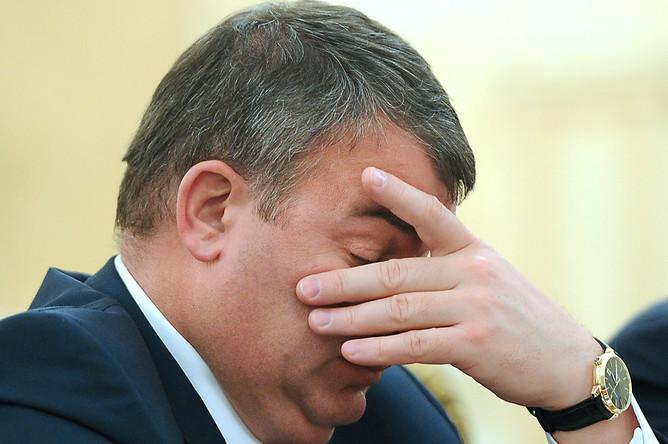 Анатолий Сердюков на заседании Президиума правительства РФ (2011 г.)