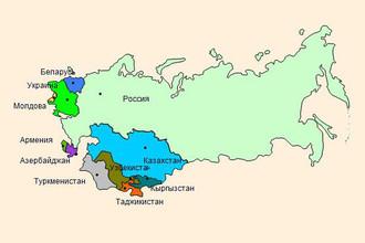 Карта стран СНГ