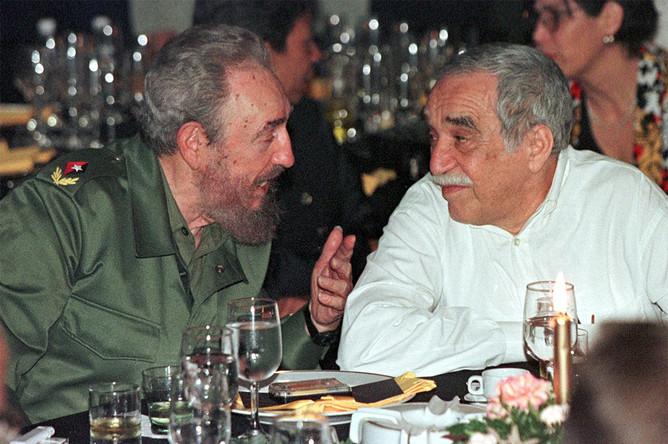 Фидель Кастро и Габриэль Гарсия Маркес на Кубе, 2000 год