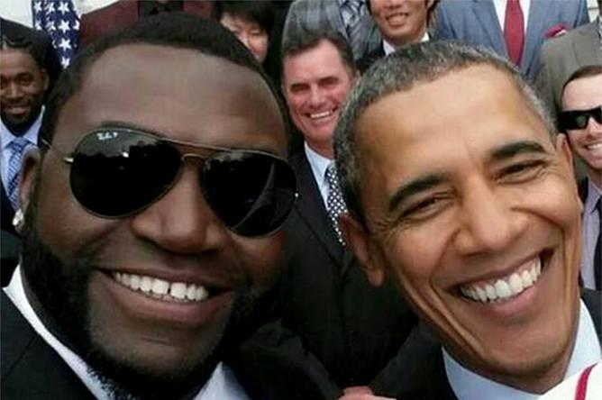 Президент США Барак Обама и бейсболист Дэвид Ортис