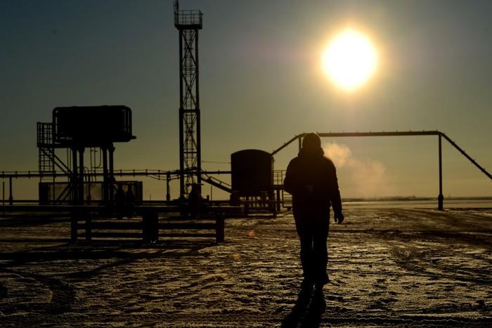 Ямало-Ненецкий автономный округ. На площадке куста скважин Бованенковского месторождения нефти, газа...
