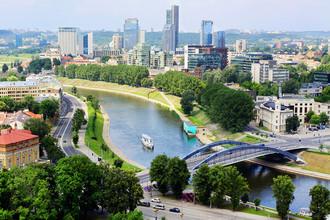 Вид на город Вильнюс