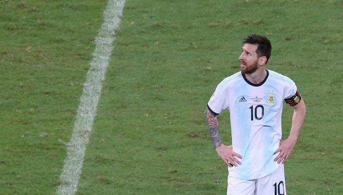 Лионель Месси после поражения от сборной Колумбии