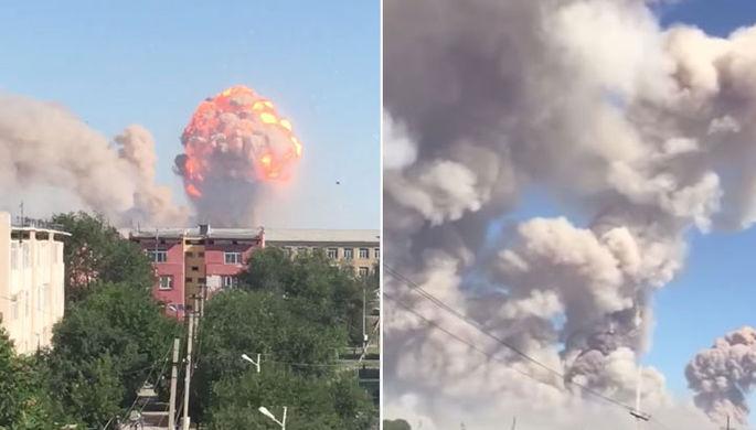 Более 70 человек пострадали при мощном взрыве на складе боеприпасов