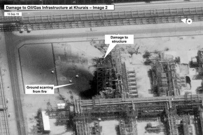 Последствия атаки дронов на Saudi Aramco в Хурайсе