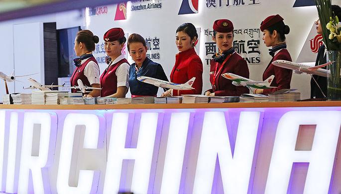 Стенд авиакомпании Air China на международной авиационно-космической выставке Airshow China 2016