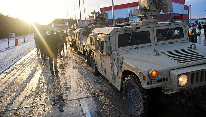 Американские военнослужащие в польском городе Жагань, 12 января 2017 года