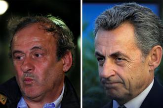 Мишель Платини и Николя Саркози