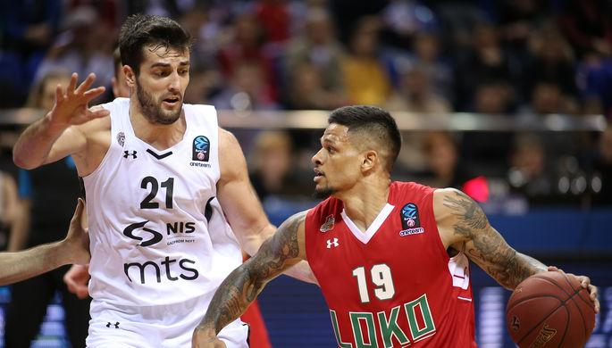 «Локомотив-Кубань» Криса Бэбба (справа) продолжает борьбу за победу в Еврокубке и попадание в Евролигу на следующий сезон