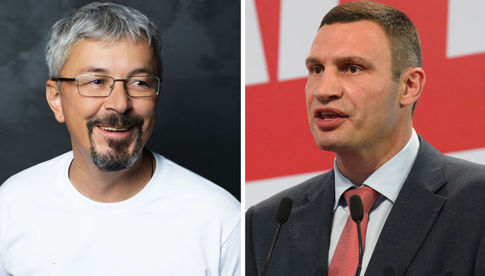 Александр Ткаченко и Виталий Кличко (коллаж)