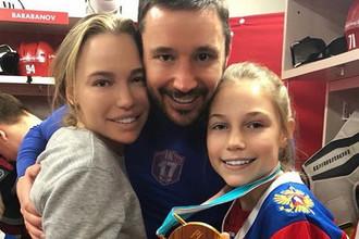 Николь Ковальчук с семьей