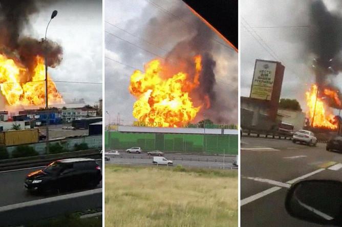 Возгорание на Северной ТЭЦ в подмосковных Мытищах, 11 июля 2019 года. Кадры из видео