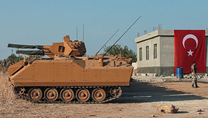Турецкая Армия на границе с Сирией, февраль 2020 года