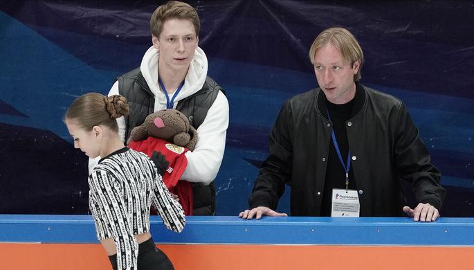 Евгений Плющенко и Этери Тутберидзе на этапе Кубка России в Москве
