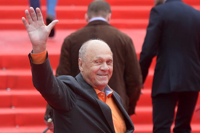 Режиссер Владимир Меньшов на церемонии закрытия 36-го Московского международного кинофестиваля, июнь 2014 года