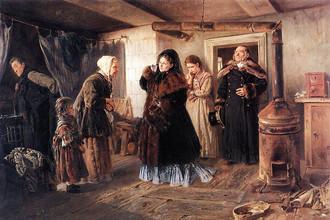 Владимир Маковский, «Посещение бедных»