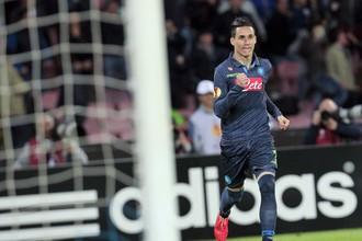 Хосе Кальехон празднует гол в ворота «Вольфсбурга»