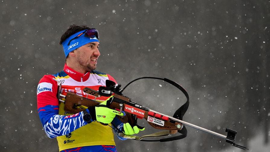 Александр Логинов на чемпионате мира по биатлону — 2021 в словенской Поклюке