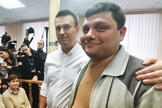 Предприниматель Петр Офицеров и политик Алексей Навальный