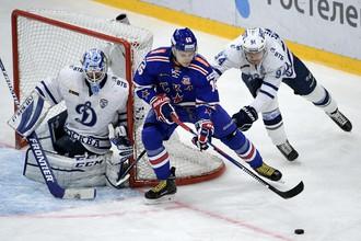 «Динамо» победило в гостях СКА в первом матче серии
