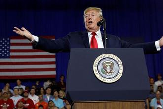 Президент США Дональд Трамп во время мероприятия в Южной Каролине, 25 июня 2018 года