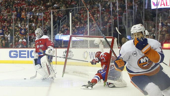 Момент матча НХЛ «Вашингтон Кэпиталз» – «Нью-Йорк Айлендерс»